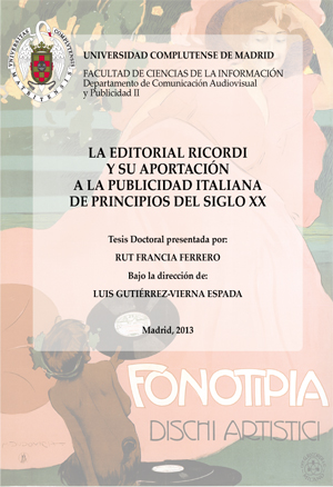 Portada La Editorial Ricordi